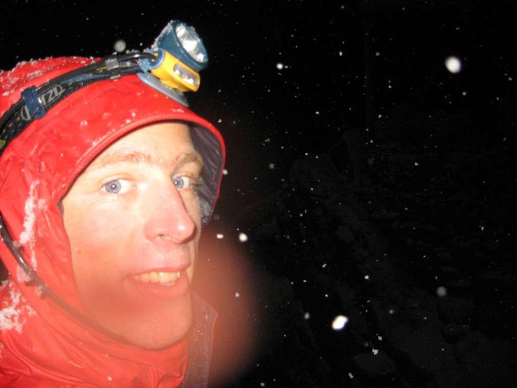 Tobi im Mont Blanc Schneetreiben
